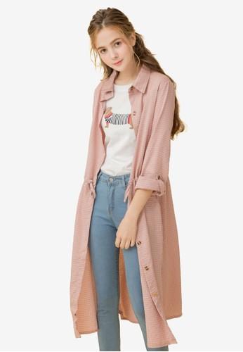 Eyescream pink Checkered Shirt Dress B4D26AAC03CAC7GS_1