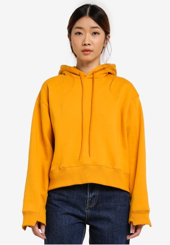 Stylenanda yellow Profile Embroidered Hoodie C78E7AA138C0D1GS_1