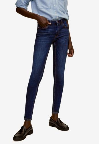 Mango 藍色 緊身牛仔褲 90B03AA2A777C7GS_1