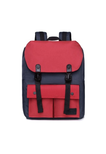 The Dude red and navy Little Predator Backpack TH373AC81BGOHK_1