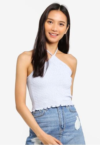b161148b00b Shop Hollister Smocked Halter Neck Blouse Online on ZALORA Philippines