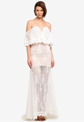 JARLO LONDON white Daviela Dress 7E423AA02B9706GS_1