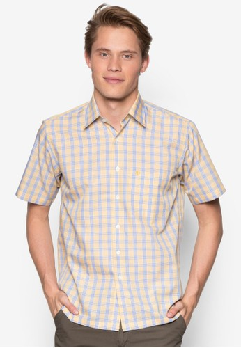 Armodinno 格紋短袖襯衫, 首飾esprit tw, 鞋飾品配件