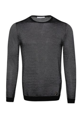 Versace black Versace Medusa Pullover Sweater in Black/White 07BBBAA3BAF69DGS_1
