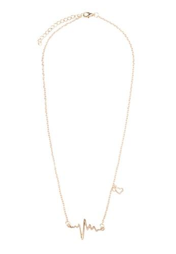 心電圖項鍊, 飾品配件, esprit旗艦店項鍊