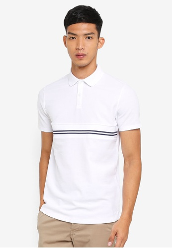 G2000 white Horizontal Stripe Polo Shirt 86952AA94401FBGS_1