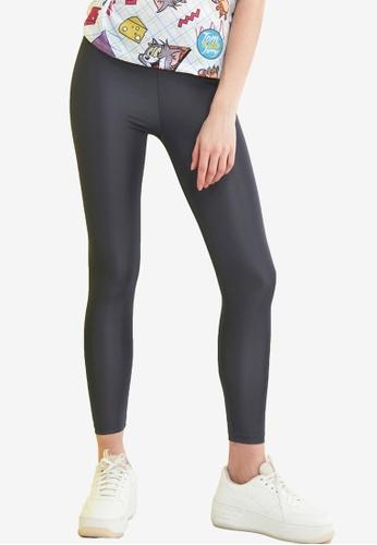 Trendyol grey Basic Shiny Disco Leggings CCDDFAA572484EGS_1