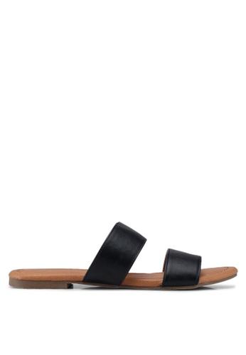 Dorothy Perkins black Black Faris Double Strap Mules Sandals 64671SH087CF04GS_1