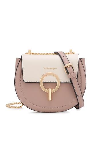 Volkswagen pink Chain Sling Bag 15B4BAC4DA36FCGS_1