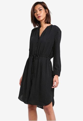 Selected Femme black Damina Dotted Long Sleeve Dress SE157AA0SKPNMY_1