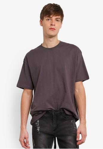 Flesh IMP grey Taping Tails Box Cut T-Shirt FL064AA0RTOPMY_1