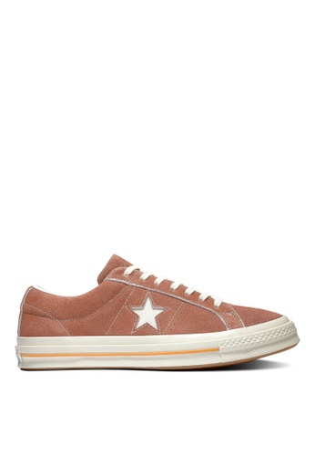 Converse brown One Star Cali Suede Ox Sneakers 72CABSHFA9BCB1GS_1