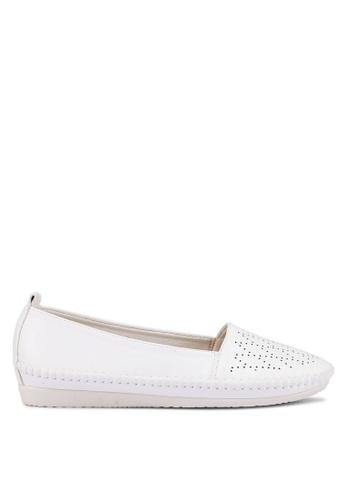 Bata 白色 雕紋樂福鞋 E9DB9SH42843FEGS_1
