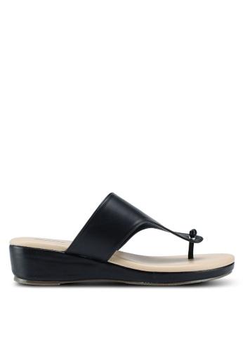 Bata 黑色 雙色夾腳涼鞋 4884ASH7ED48D9GS_1
