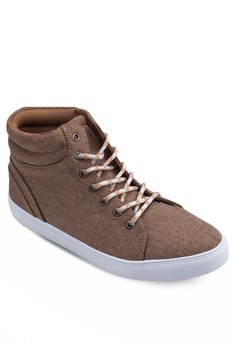 High Top Sneakers With Catepillar Lacing