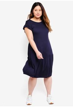 d764e52d481 59% OFF Only CARMAKOMA Plus Size Solid Short Dress Rp 769.000 SEKARANG Rp  319.000 Ukuran 50