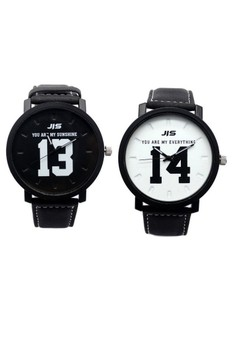 New Couple Leather Strap Chinese style Watch 1314 Love Forever