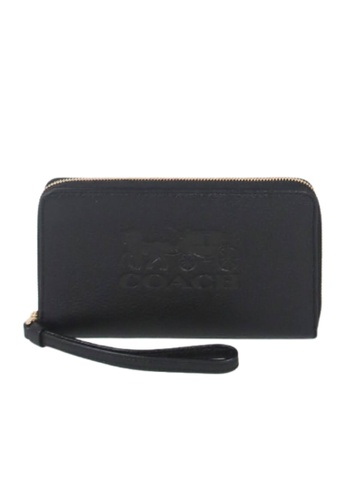 Coach black Coach Large Phone Case F75908 Wallet In Black 3B93EACF72231AGS_1