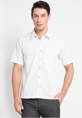GQ MEN'S WEAR white Casual Short Sleeve Shirt 697A5AA6CFBEE3GS_1