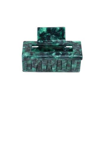 Glamorousky green Fashion Simple Green Pattern Geometric Hair Claw 86F68AC51C26FFGS_1