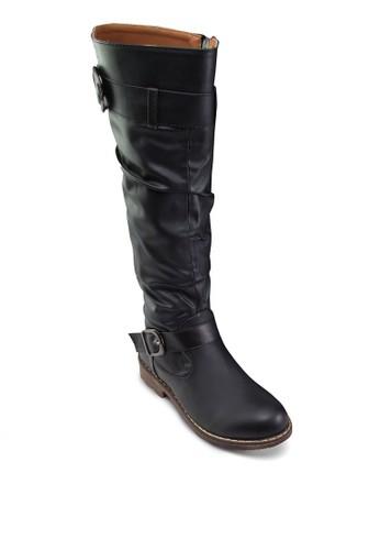 Zoezalora 包包評價 扣環高筒靴, 女鞋, 鞋