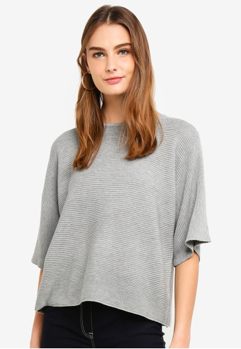 OVS grey Wool And Viscose Crop Pullover CBA67AADCA9504GS_1