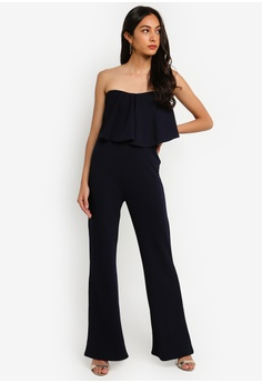 b263d3d76b 10% OFF MISSGUIDED Petite Bandeau Frill Wide Leg Jumpsuit RM 149.00 NOW RM  133.90 Sizes 6 8 10 12