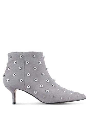 Dorothy Perkins 灰色 Grey 'Asha' Ankle Boots DO816SH0ST0QMY_1