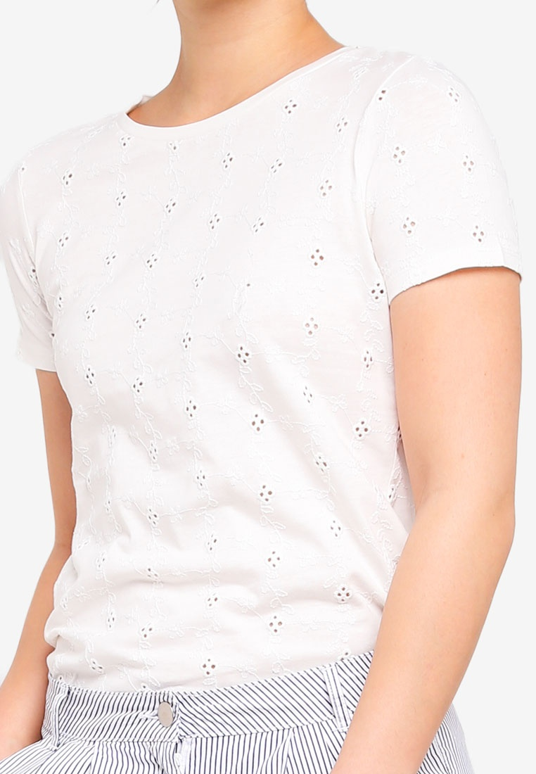 Tshirt Perkins Dorothy Broderie Ivory Broderie Tshirt Perkins Dorothy vx8wdq78p