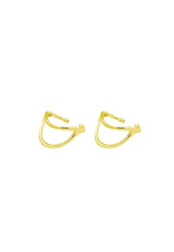 LYCKA 金色 LDR9128 S925純銀 簡約線條耳夾 98B01ACBEBE3B6GS_1