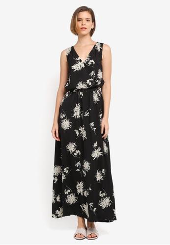 ZALORA black and multi Floral Maxi Dress D9E43AA0C1C243GS_1