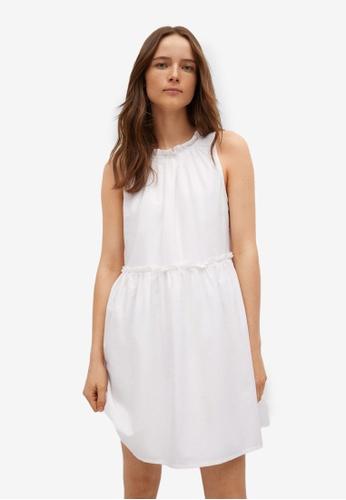 Mango white Gathered Details Dress D9844AA27AA081GS_1