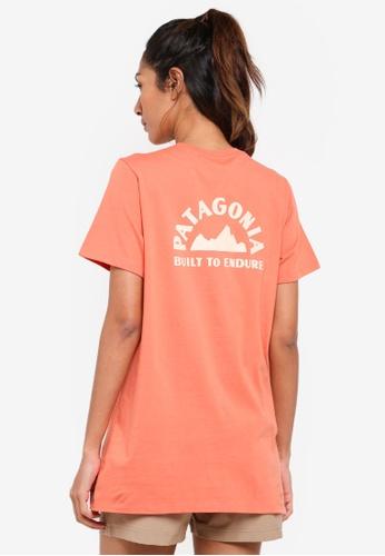 Patagonia orange Geologers Organic Crew T-Shirt PA549AA0SVNEMY_1