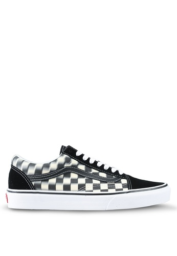 a61ac0e9e6 VANS black and white Old Skool Blur Check Sneakers 02B6FSHA22DDADGS 1