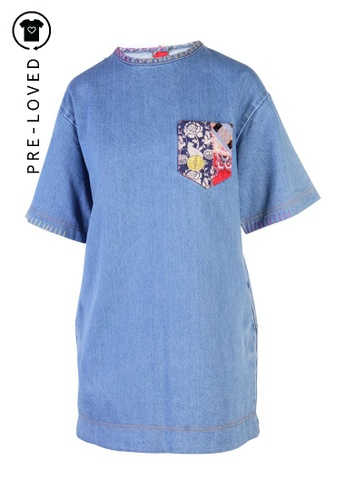 Marc By Marc Jacobs blue Pre-Loved marc by marc jacobs Embellished Denim Dress F3B7CAA8D46A98GS_1