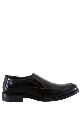 Hush Puppies black Stapler Slip On Dress Casual Shoes D299FSHCF45F0FGS_1