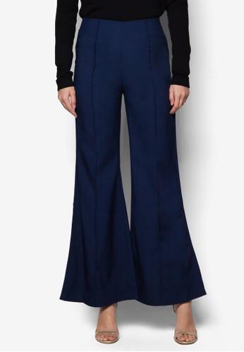 Siera 中腰腰帶喇叭長褲, 服飾, 服esprit門市飾