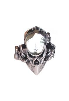 Image of VERNYX Men's Alien Predator Titanium Steel Ring CCO3614 - Cincin Pria
