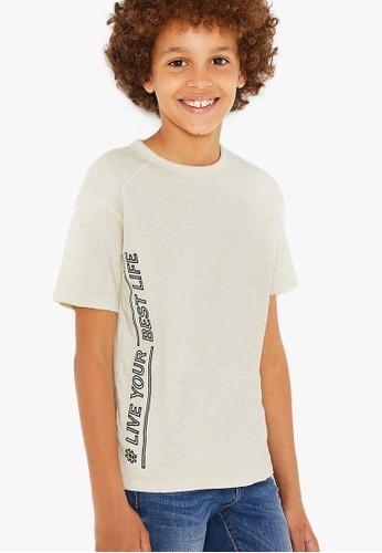 MARKS & SPENCER white #Living Tshirt 99202KA494E526GS_1