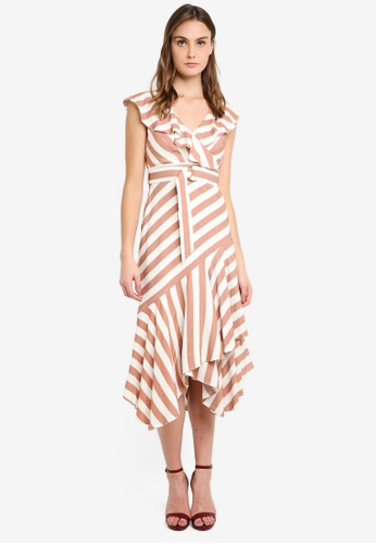 Forever New brown Blair Stripe Dress 5C5D4AA006520FGS_1