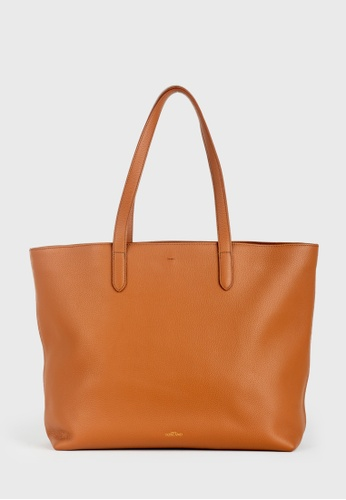 Tocco Toscano brown Aimee Leather Tote (Camel) 0157CAC421B047GS_1