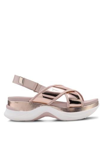 7f81e56fbe0 ALDO gold Bryryan Criss Cross Slingback Wedge Sandals A7A8DSH0DB1B56GS 1