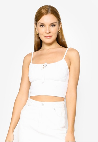 Hollister white Tie Bare Top EF750AAB11C8A3GS_1