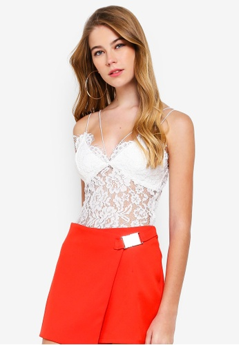 83a5b7e34214b Buy MISSGUIDED Corded Lace Harness Bodysuit Online on ZALORA Singapore