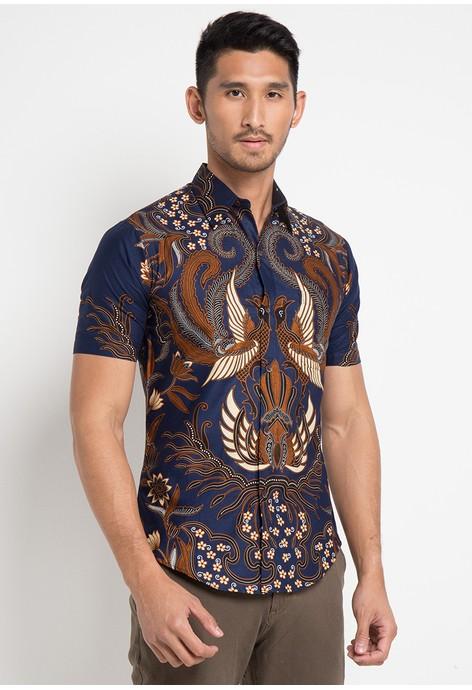 Pakaian Batik Print Pria Modern Online  1048f08e18