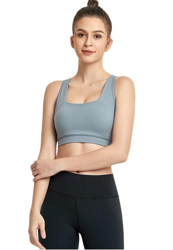 B-Code blue ZWG7009Lady Quick Drying Running Fitness Yoga Sports Bra -Blue D64A3USD860E1BGS_1