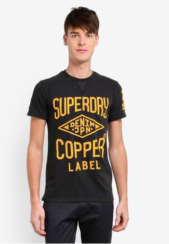 Superdry black Copper Label Café Race Tee SU137AA0S4CJMY_1