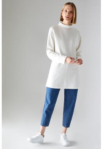 DeFacto beige Long Sleeve Sweat Tunic 499FEAAC02F225GS_1