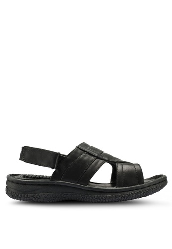 Bata black Strap On Sandals 26704SH9427F3BGS_1