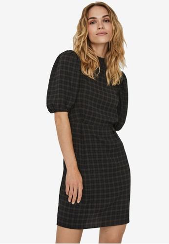 Vero Moda black Maddie 2/4 O-Neck Dress 8B45DAA0726037GS_1
